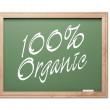 100% Organic Green Chalk Board Series — Stock Photo