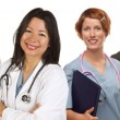 Group of Doctors or Nurses on a White Background — Stock Photo