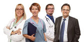 Group of Doctors or Nurses on a White Background — Stockfoto