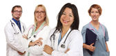 Group of Doctors or Nurses on a White Background — Stok fotoğraf