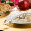 Apple Pie and Empty Plate with Remaining Crumbs — Stock Photo #7193931