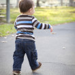 Young Baby Boy Walking in the Park — Stock Photo #7678287
