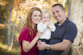 Young Attractive Parents and Child Portrait — Stock Photo