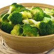Steamed broccoli — 图库照片
