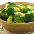 Steamed broccoli - Stock Photo