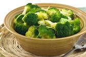 Gedünsteter brokkoli — Stockfoto
