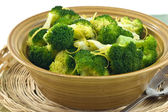 Steamed broccoli — Stock fotografie