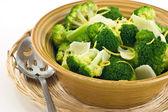 Steamed broccoli — Stock Photo