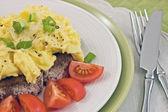 Kiraz domatesli omlet — Stok fotoğraf