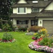 Manicured Home and Yard — Foto de Stock