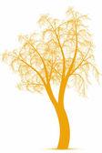 秋天一棵树 — 图库矢量图片