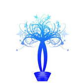 цветочные корзины — Cтоковый вектор