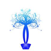 Blommig korg — Stockvektor
