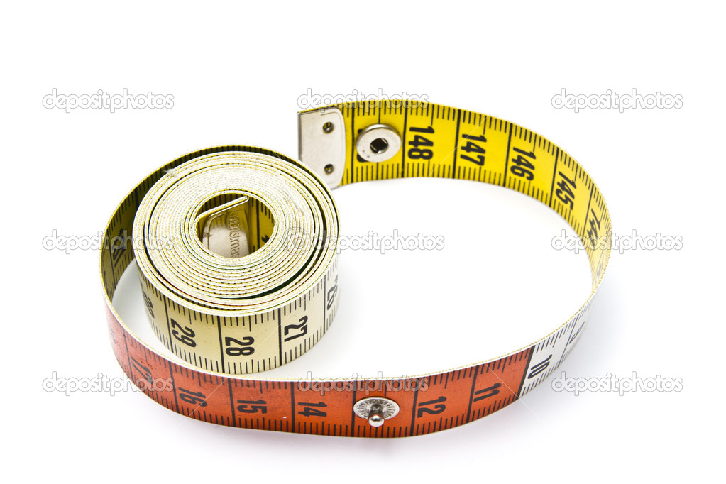 Tape measure closeup on white background  — Stock Photo #6828871