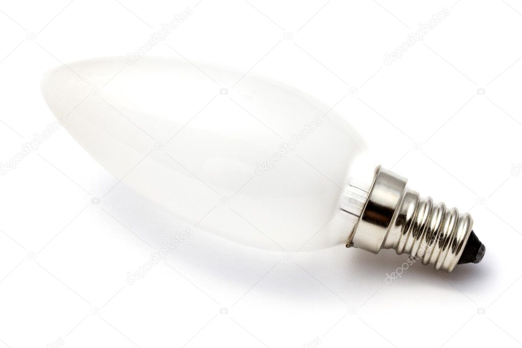 Light Bulb closeup on white background   Stock Photo #6828883