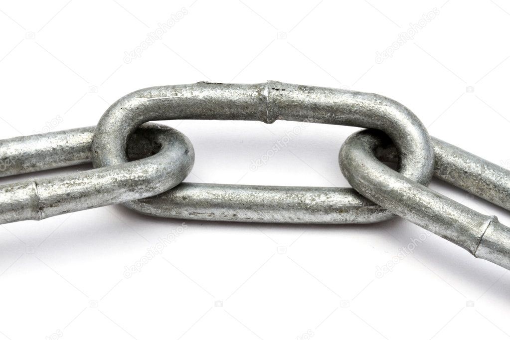 Chains closeup on white background   Stock Photo #6828885