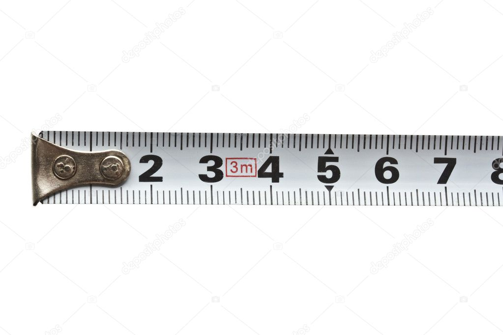 tape measure isolated on white background  — Stock Photo #6828888