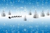 冬の風景 — ストックベクタ