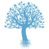 Sanat ağaç — Stok Vektör