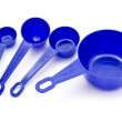 图库照片: Blue measuring spoons