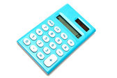 Blue calculator — Stock Photo