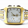 Men's gold wristwatch — 图库照片