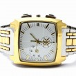 Men's gold wristwatch — Stock Photo