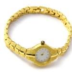 Golden wrist watch — Stock Photo