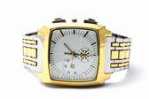 Pánské zlaté hodinky — Stock fotografie