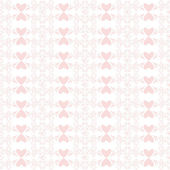 Wzór kwiatowy i serca — Wektor stockowy