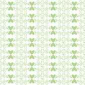 Seamless floral and heart pattern — Vettoriale Stock