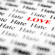 Love & Hate — Stock Photo