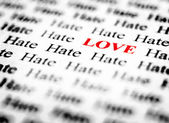 Love & Hate — Stock Photo