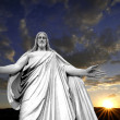 Jesus and a Sunset - Stock Photo