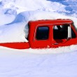 Heavy Winter Snow Truck covered — Stock Photo