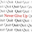Never Give Up - Stock Photo