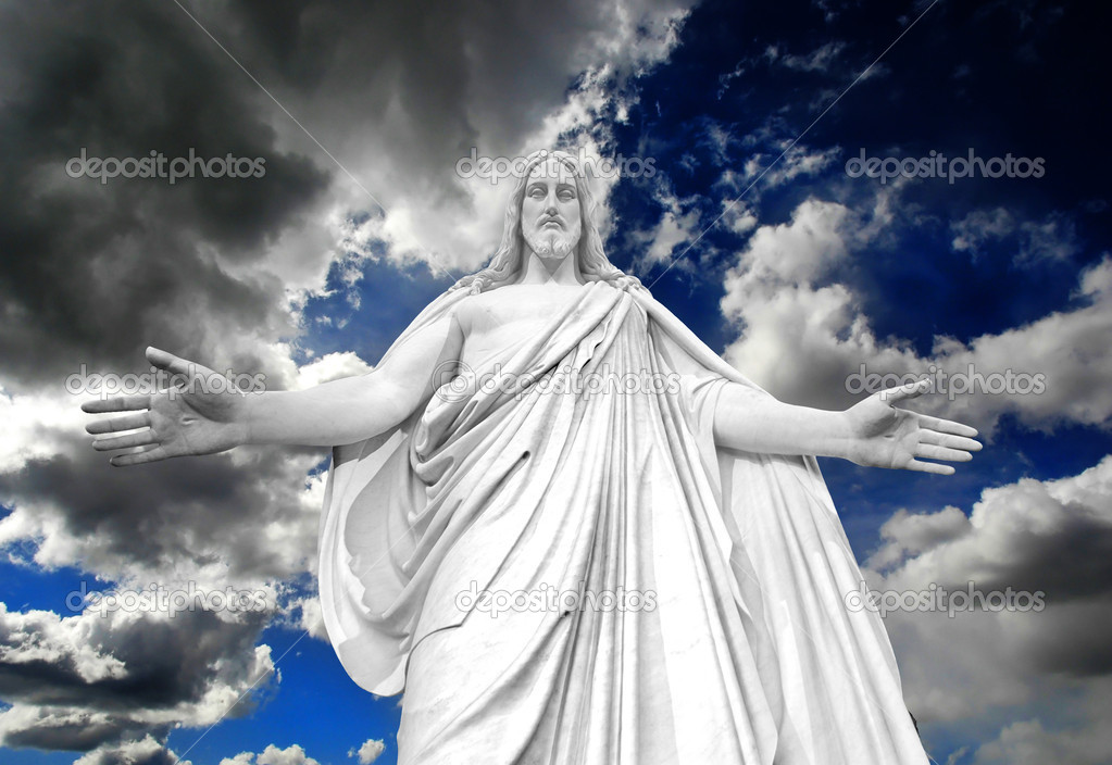 Statue of Jesus Christ with hands outstretched — Stock Photo #7334736