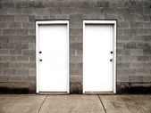 Two Doors Representing Choices — Stock Photo