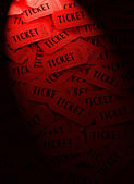 Pile of Red Tickets — Stock Photo