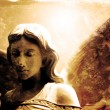 Vintage Photograph of Angel Statue — Stock Photo