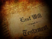 Vintage Last Will and Testament — Stock Photo