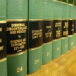Law Books on Divorce — Foto de Stock