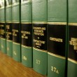 Law Books on Consumer Protection — ストック写真