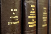 Law Books on Insurance — Stock Photo
