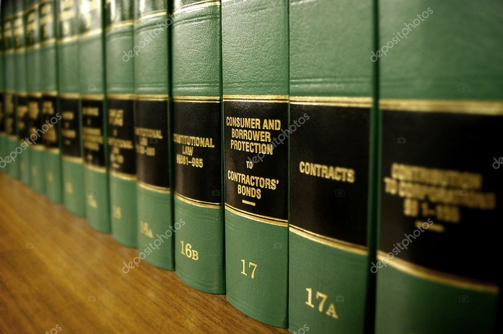 Close up of several volumes of law books of codes and statutes on consumer protection — Stock Photo #7959852