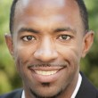 Image of a handsome black man smiling — Stock Photo
