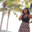 Woman in Miami talking on a cellphone — Stock Photo #6769467