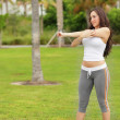 Young woman exercising in the park — Stock Photo #7140628