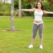Stock Photo: Woman exercising in the park