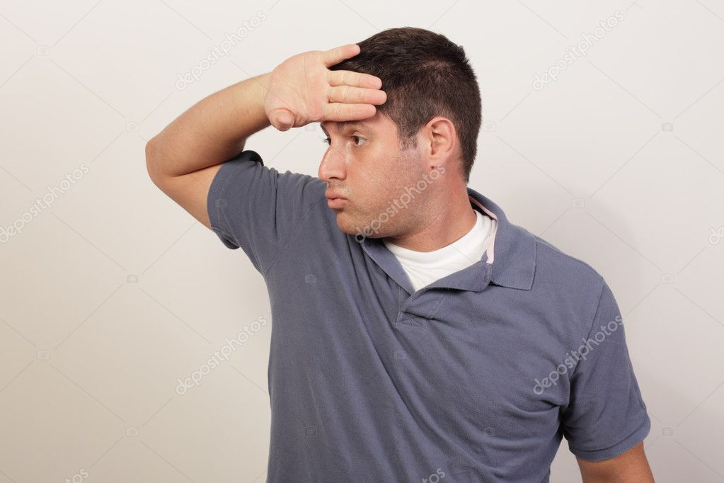 Image of a man wiping his sweat — Stock Photo #7253618
